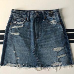 Abercrombie & Fitch Zoe A-Line Denim Skirt